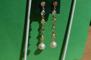 3-00ct-Sri-Lankan-Moonstone-Freshwater-Pearl-Earrings-14K-YG-over-Fine-Silver