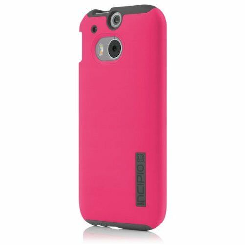 new style 601b0 951ec Incipio HTC One M8 Dual Pro Cover Case Pink Gray