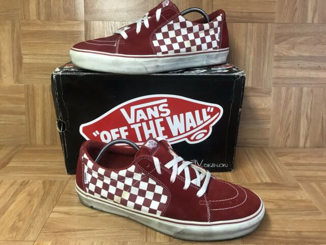 RARE VANS AV Sk8-low Red Chili-pepper Checkerboard Men s Shoes Sz 13 ... 4147b25765