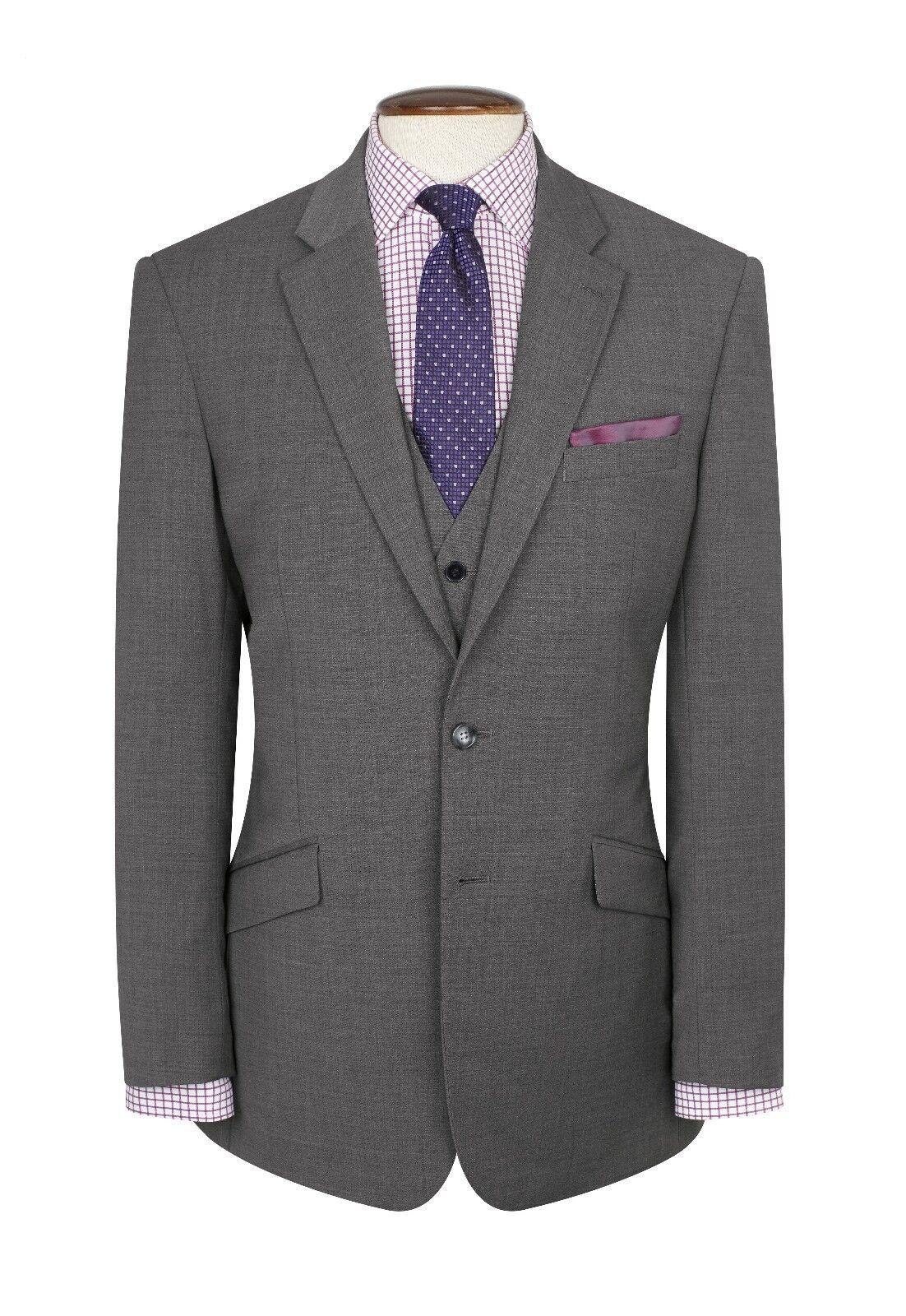 New mens Brook Taverner Light Grau suit suit suit in Größes up to 52 chest SAVE OVER c79834
