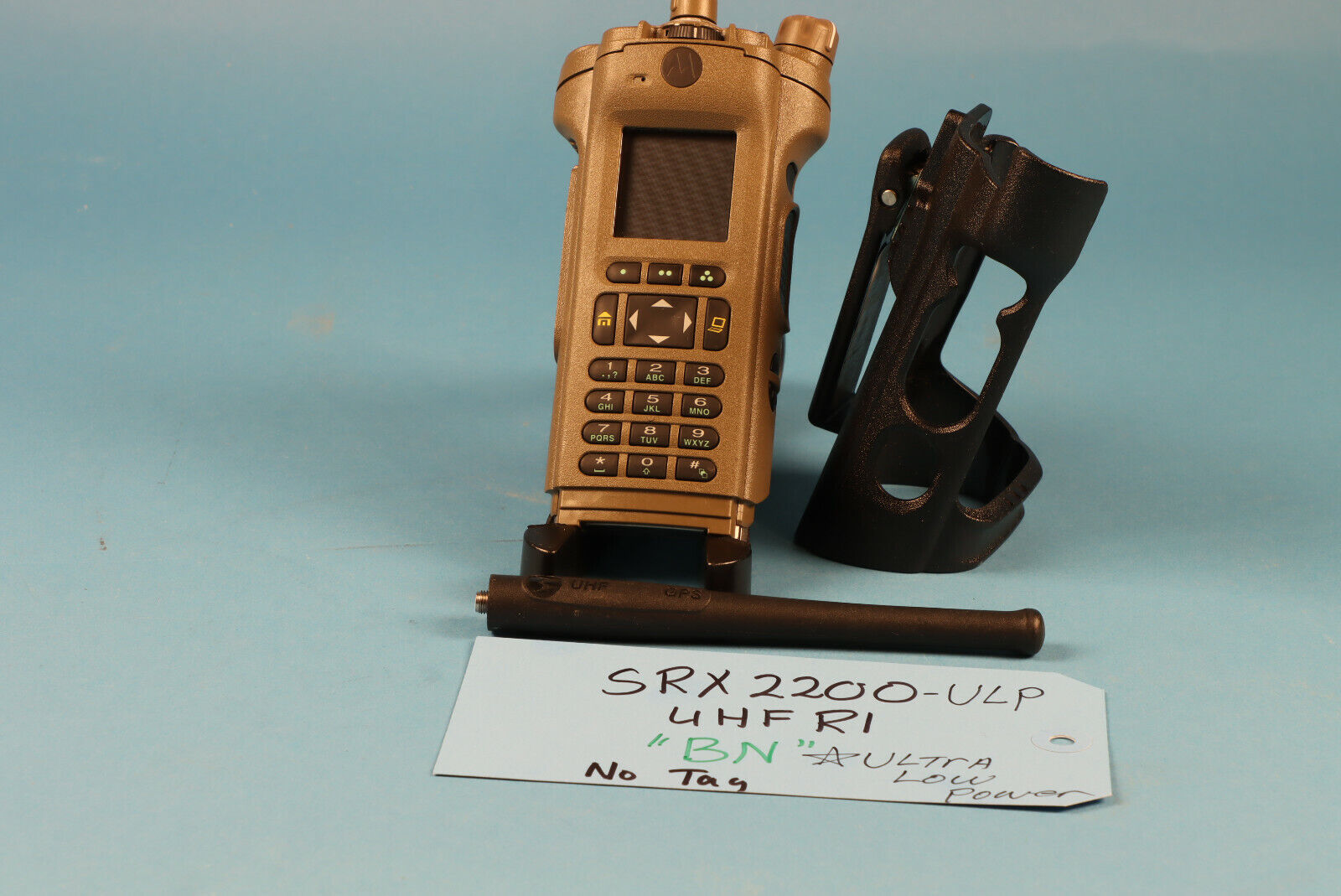 Motorola SRX2200-ULP BN UHF R1 Bluetooth ADP DES AES2563.5 *No Tags. Available Now for 1700.00