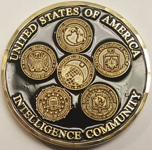 ORIGINAL 1st Iteration CIA Central Intelligence Agency USIC Intel Community Coin
