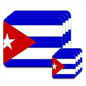 Cuba-Flag-Coaster-amp-Placemat-Set