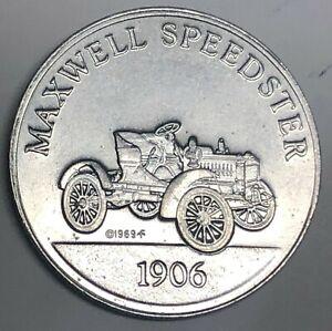 C8564-ANTIQUE-CAR-ALUMINUM-TOKEN-1906-MAXWELL-SPEEDSTER