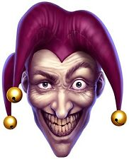 Scary Joker Sticker Laptop Book Fridge Guitar Motorcycle Door PC Boat Jocker #01