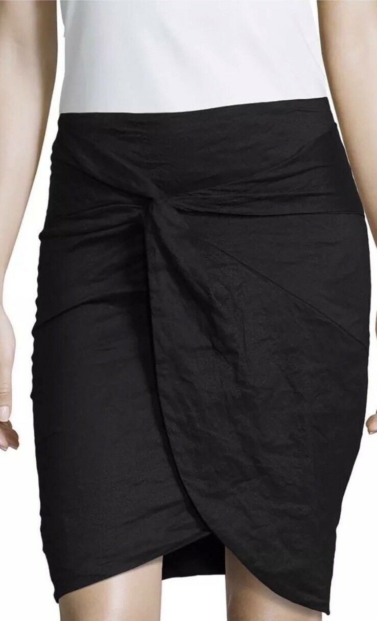 Nicole  MILLER Artelier   Stretch Ruched  Pencil Skirt NWT Size 2