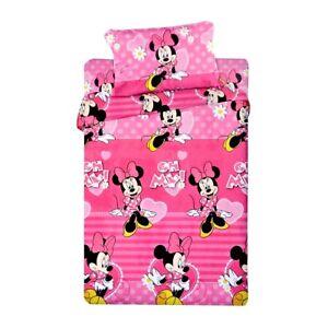 Lenzuola Letto Singolo Disney.Completo Lenzuola In Morbido Pile Minnie Disney Completo Per Letto