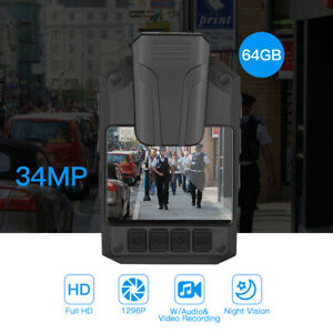 1296P-Body-Mounted-Camera-32GB-Memory-IR-Wearable-Wide-View-for-Police-Security