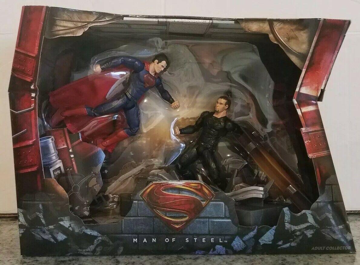 Superhomme vs.  Général Zod Man of Steel Movie Masters Action Figure Set DC San Diego comic-con  vous rendre satisfait