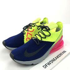 ca1da5a16470 Nike Air Max 270 Flyknit Regency Purple Grey Volt Ao1023 501 Mens Size 11.5
