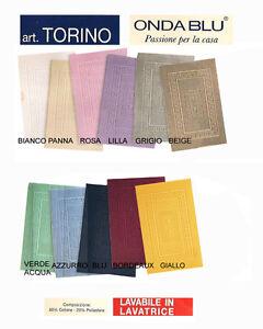 TAPPETO-BAGNO-IN-SPUGNA-60X120CM-TORINO-ONDA-BLU-VARI-COLORI