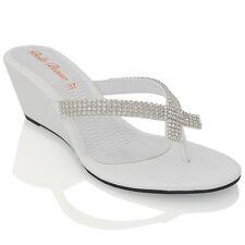 7006681f7e150 item 6 Womens Wedge Heel Flip Flops Sandals Diamante Sparkly Ladies Toe  Post Shoes 3-9 -Womens Wedge Heel Flip Flops Sandals Diamante Sparkly  Ladies Toe ...