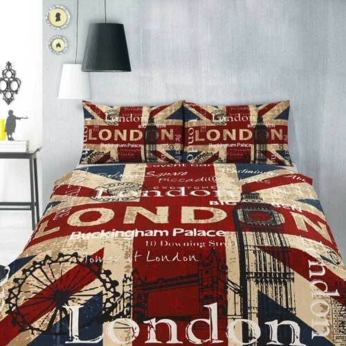 SINGLE DOUBLE QUEEN KING Retro Home Vintage Quilt Doona Duvet Cover Set