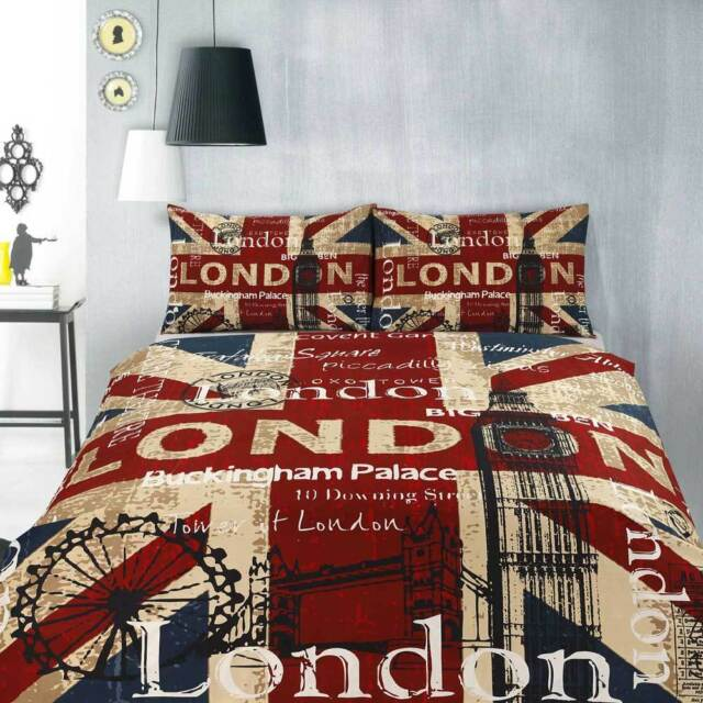 Retro Home Vintage Quilt Doona Duvet Cover Set - SINGLE DOUBLE QUEEN KING