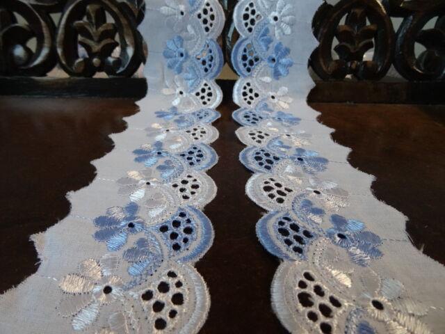 Spitzenborte blau 4,7 cm Spitze Borte deko Tischdecke kissen bett decke kind