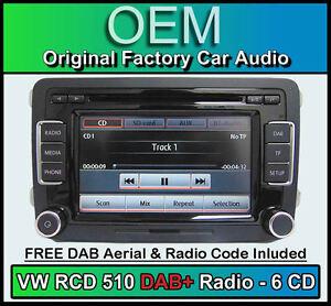 VW-Golf-MK6-DAB-car-stereo-RCD-510-DAB-radio-6CD-changer-touchscreen-SD-card