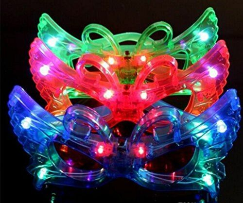 4 Colors 12 Pc Adorable Butterfly Light Up Flashing Glasses For Children party