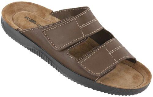 Rohde Soltau-H Men slip-on shoe Mules slippers sandal hook /& loop leather NEW
