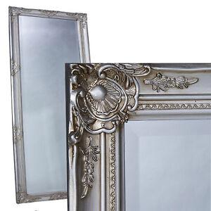 Wandspiegel-Spiegel-silber-ca-180-x-80-cm-antik-Barock-mit-Facettenschliff