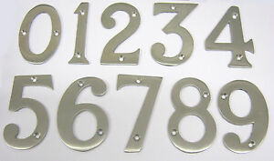 Image is loading 75mm-3-SATIN-CHROME-DOOR-NUMERALS-WITH-SCREWS-  sc 1 st  eBay & 75mm / 3\u201d SATIN CHROME DOOR NUMERALS WITH SCREWS HOUSE NUMBERS ...
