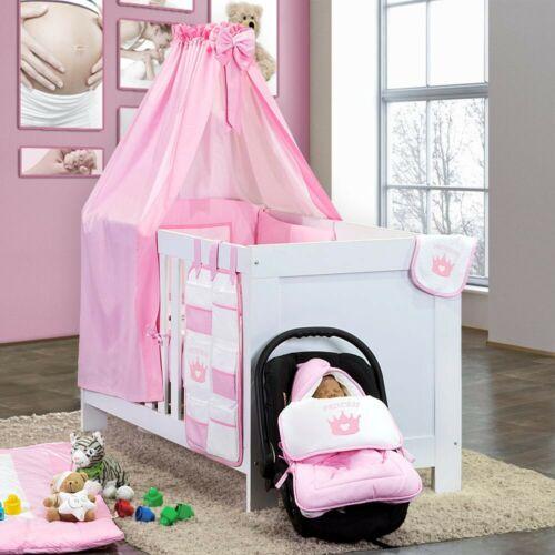 Babybettset Prince oder Princess in Rosa oder Blau 5-tlg