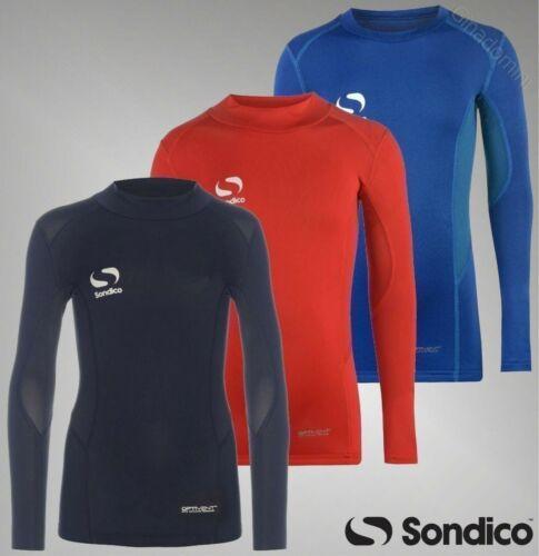 Boys Sondico Optivent Mock Neck Top Long Sleeves Baselayer Sizes Age 3-13 Yrs