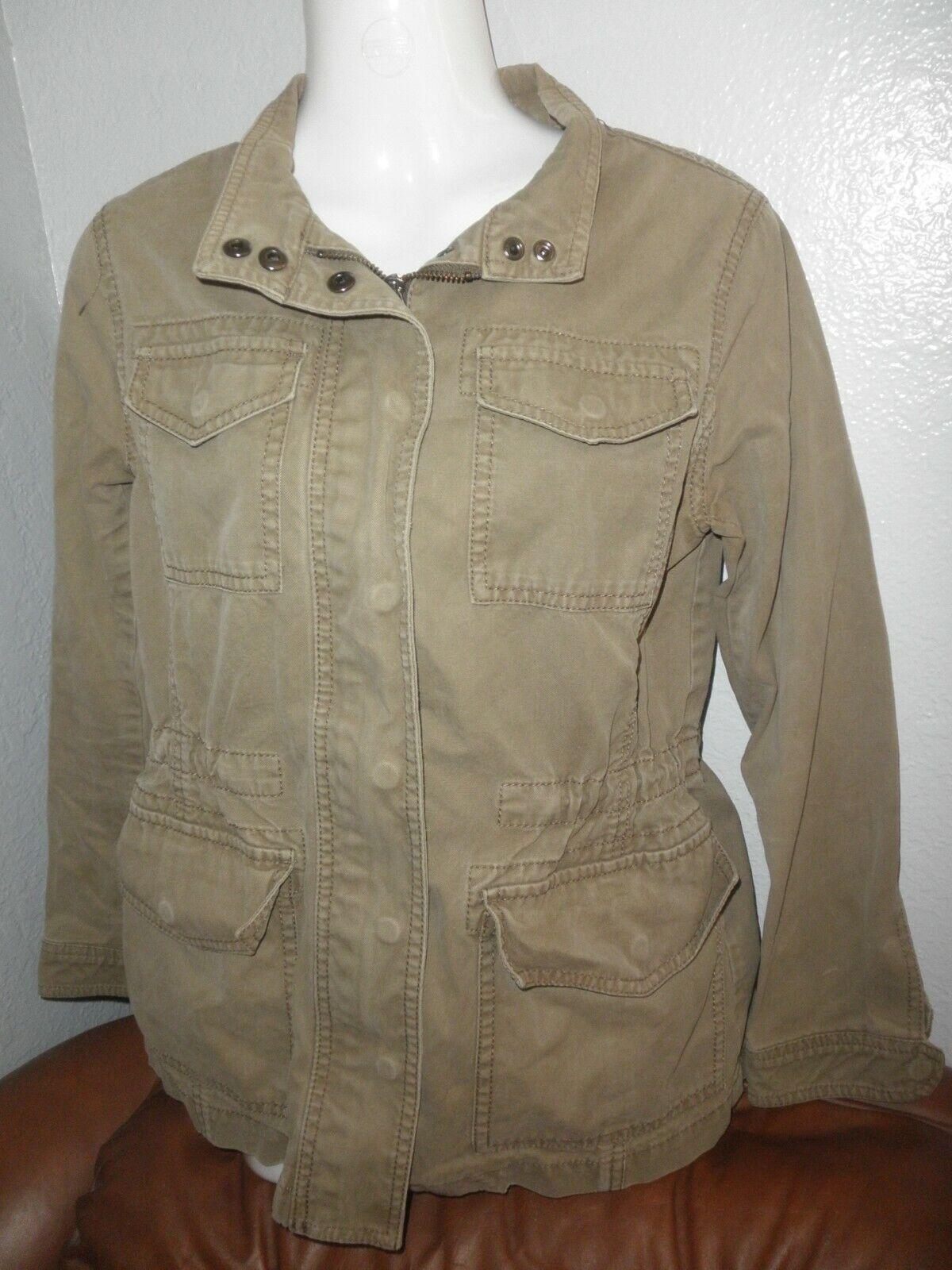 Ladies Light Army Green Cargo Jacket, Cool Cotton, Banana Republic, XS P