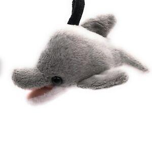 Stoff Tier Schlüsselanhänger Hai grau Fisch 11 cm Plüsch Kuschel