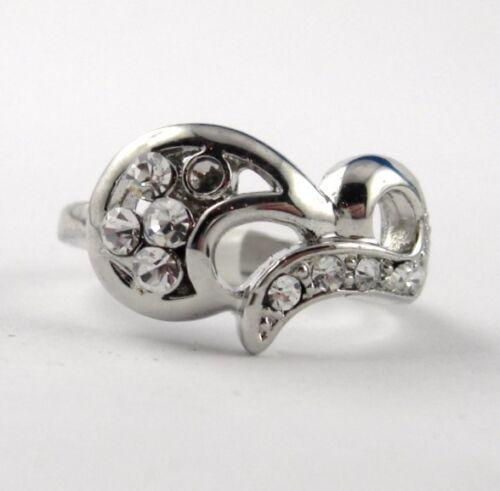 Electro plated anillo media luna Design coqueto tamaño anillo elegibles b43