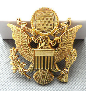 Wwii Us Army Officer Cap Eagle Badge Insignia Hat H012 Ebay