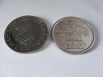 Harry Potter 1st Edition 2001 Gringotts PHILOSOPHERS STONE&CHAMBER SECRETS Coins