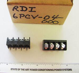 1x-RDI-6PCV-04-4-Position-375-034-Pitch-PC-Term-6-32-Screw-Barrier-Strip-NOS