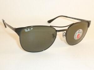 445adcfaed New RAY BAN Sunglasses SIGNET Black Frame RB 3429 002 58 Polarized ...