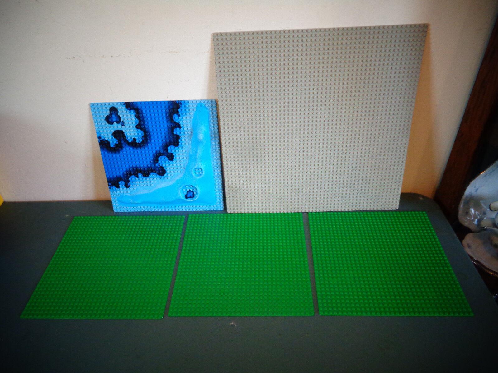 Lego placas base 1 gris 48 Dot 15 X 15 - 3 verde 32 Dot 10 X 10 - 1 Azul planteó