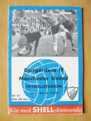DJURGARDENS v MANCHESTER UNITED Fairs Cup 19641965 Exc Cond Football Programme