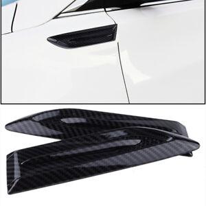 Fibra-De-Carbono-Estilo-Side-Wing-Auto-ingesta-de-flujo-de-aire-ventilacion-Fender-Scoop-Bonnet