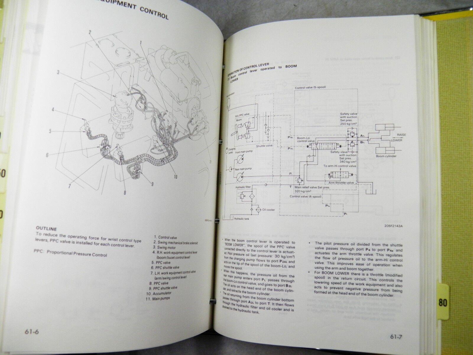 Komatsu Pw210-1 Wheeled Excavator Shop Manual10001-up