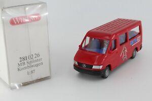 A-S-S-WIKING-ALTER-PKW-MERCEDES-MB-SPRINTER-FUssBALL-EM-1996-ROT-GK-281-2-OVP-TOP