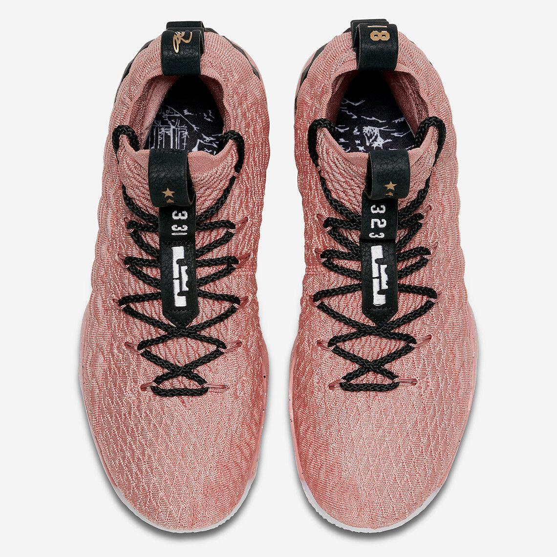 Nike LeBron XV 15 Hollywood All Star Star Star Size 7.5. 897650-600. Rust Pink gold Black d17b0d