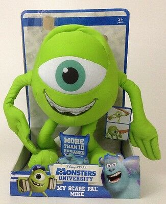 "NEW Disney Pixar Monsters University 11""  Plush  "" My Scare Pal Mike"" 10 Phrases"