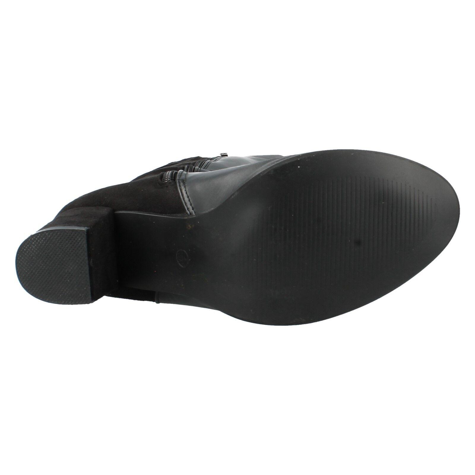 SPOT ON LADIES F50366 ZIP UP KNEE SMART FORMAL HEELED LONG KNEE UP LENGTH Stiefel 766c27