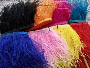 Wholesale!1-10yards perfect natural ostrich feathers ribbon 8-10cm/3.2-4inches