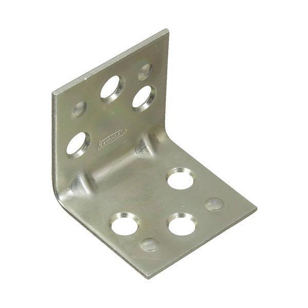 25 Pk Steel Zinc Plated 1.5  Wide  X 1.5  Long Double Wide Corner Brace N285544