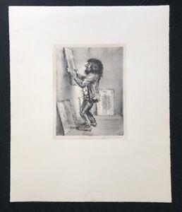 A. Paul Weber, con fiducia, litografia, 1975, firmato a mano