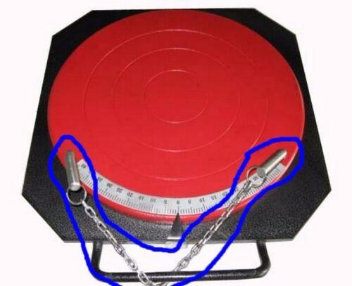 4X Wheel Aligner Alignment Turntable Turn Plate Table Locking Pins