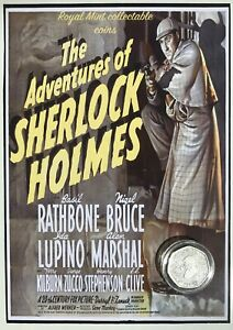 NEW-Sherlock-Holmes-collectable-circulated-50p-coin-on-Sherlock-film-card