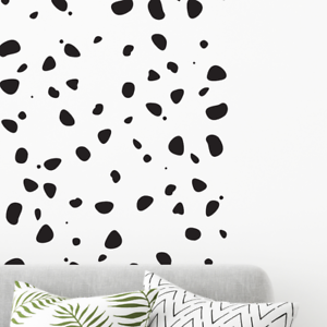 Details about 150 POLKA DOTS wall decal stickers Dalmatian Print Bedroom  nursery interior
