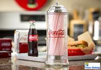 Vintage Coca Cola Coke Glass Drinking Soda Straw Dispenser Holder Dispensers