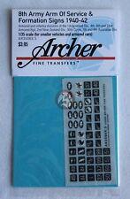 Archer 1/35 British 8th Army AOS & Formation Signs 1940-1942 #3 (5mm) AR35069.5