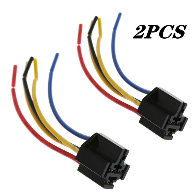 2pcs 5 Pin Cable Relay Socket Harness Connector Dc 12v For